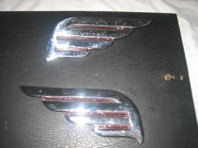 Dodge 1938 D8-D9 Nose Cone Chrome Wings At Lower End Of The Main Grill L & R