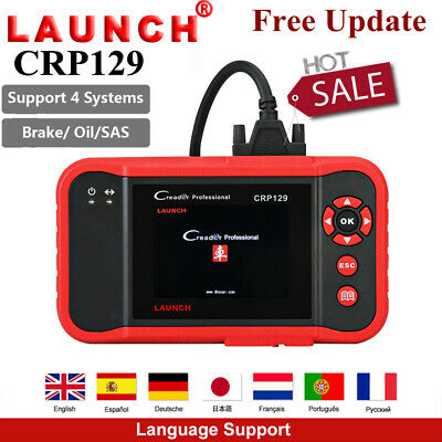 LAUNCH X431 CRP129 OBD2 Diagnostic Scanner Code Reader EPB ABS SRS Oil Reset SAS