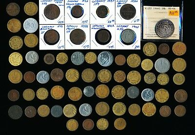 69 Old Germany & German State Coins (You Identify Most) See Images > No Rsrv