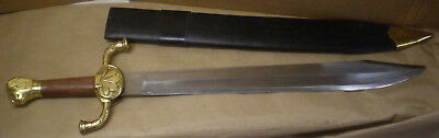 Vintage 70's/80's Lion Head Battle Sword & Scabbard