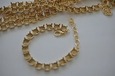 10 Pieces Of 39ss Empty Cup Chain 8mm 16 Cup Bracelet, Gold Plated K449