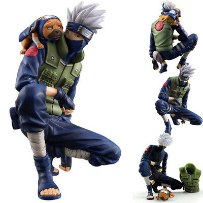 Anime Naruto Kakashi 8'' PVC Action Figure Model Vest & Heads Removable Gift
