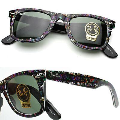 NEW Authentic RAY-BAN Original Wayfarer Rare Prints Black Sunglasses RB2140 1089