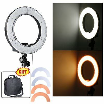 "GS Ring Beauty Light Desktop Dimmable 14"" LED  Stand Bracket Video Makeup Selfie"