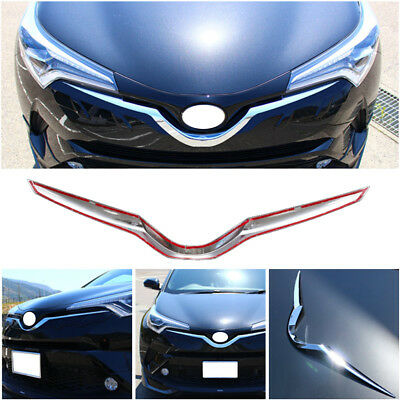 Front Gril For Toyota CHR C-HR 2017 2018 2019 Hood Grille Garnish Cover Chrome