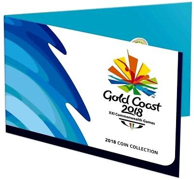 2018 $2 Coloured  and $1 Coin Collection Commonwealth Games Set 7 Coins BU