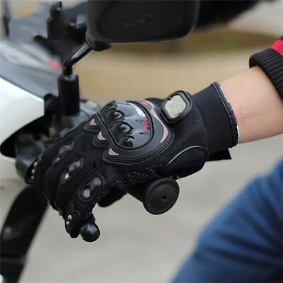 MEN Motorcross Riding Motor Cycling Leather Full Finger Touch Screen Gloves US