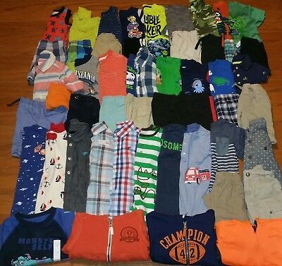 Huge 53 pc Baby Boy Spring Summer clothing Lot 12-18 Months outfits rompers+ EUC