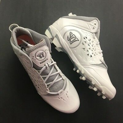 Adonis Warrior Men's Size 14 Lacrosse Cleats White Gray Adoniswt Spell Out