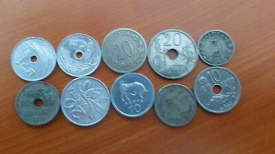 Greece Coin Lepta Lot Of 10 Different Coins#c122