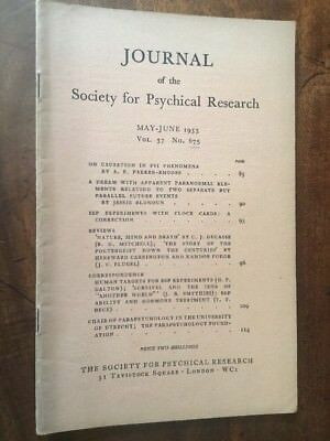 Journal Society for Psychical Research. Vol 37, 675, May 1953