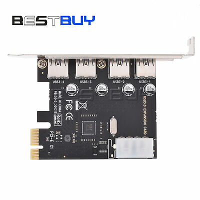 4-Port 5Gbps USB 3.0 To PCI-E Card Express Expansion Card Adapter Win7 X BBC
