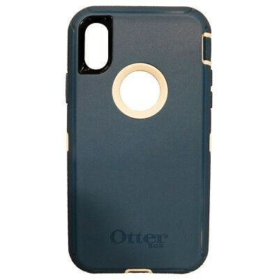 INCOMPLETE OtterBox Defender Series Case for Apple iPhone X 10 Blue/White