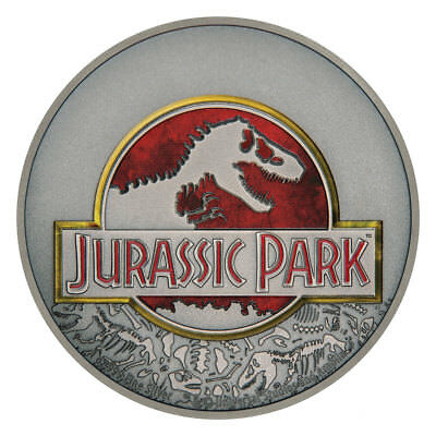 2018 Niue Jurassic Park 25th 1 oz Silver Colorized Antiqued $2 BU OGP SKU52362