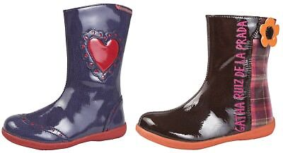 Agatha Ruiz De La Prada Girls Leather Boots Winter Snow Rain Shoes Kids Size