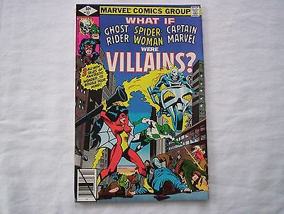 Vintage What If Ghost Rider Spider Woman Were Villains Comic 17 VF Marvel Comics