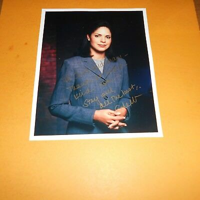 Soledad O'Brien is an American broadcast journalist Hand Signed Photo