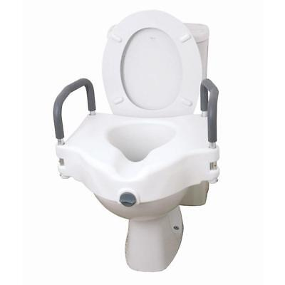 Disability Toilet Seat With Arms Heavy Duty Padded Armrests Mobility Aid