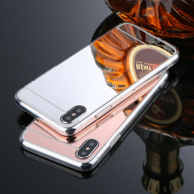 Luxury Ultra Thin Mirror Soft Silicone Gel Case Cover iPhone X SE 5S 6S 7 8 Plus