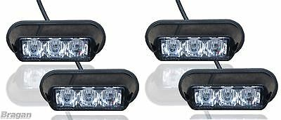 4 x Red Strobe Flashing LED Lights Breakdown Truck Recovery Lorry Strobes