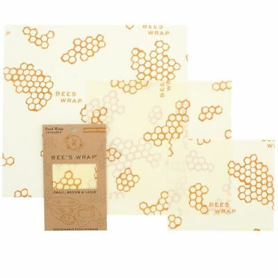 Bee's Wrap - Assorted 3 Pack - Honeycomb - Organic cotton food wraps