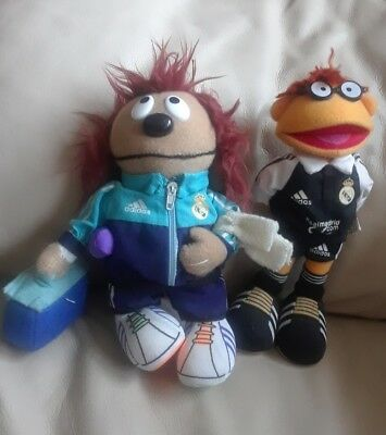 Lot of 2 Muppets plush Soccer ROWLF and SCOOTER Very rare!