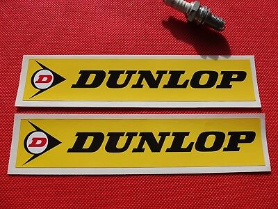 """Pair of Dunlop 8"""" stickers Yellow"""