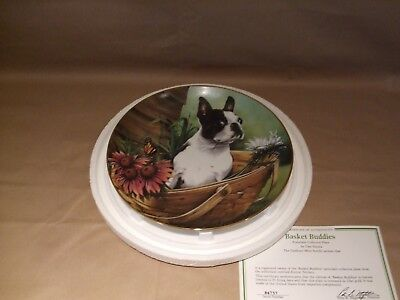 Boston Terrier Plate Danbury Mint Basket Buddies