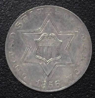 1856 3 Cents Silver  Choice Uncirculated