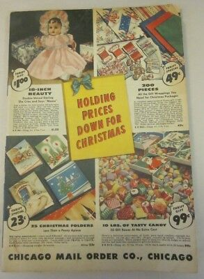 1942 Vintage Christmas Catalog/chicago Mail Order - Mens,womens,clothes,toys