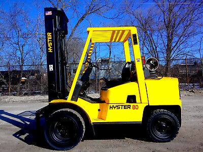 Hyster H80Xm Pneumatic Forklift Lift Truck Hi Lo Fork,8,000Lb Capacity,hyster