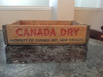 Vintage Canada Dry Wood Soda Crate New Orleans