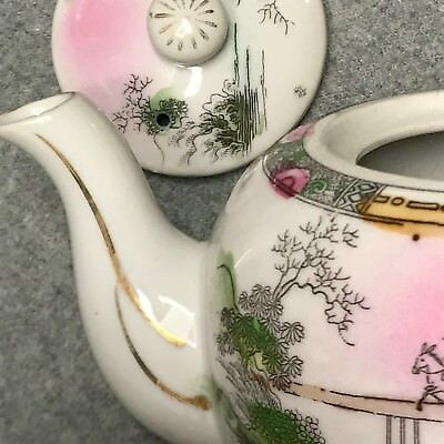 1920's-1940's Hotta Yu Shoten Co. Japan Hand Painted Teapot Cherry Blossom Mark