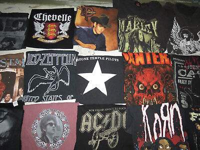Lot Of 52 Concert T Shirts Vintage T Shirts Vintage Tees Rock Pop Country Metal