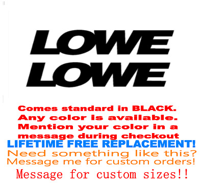 "Pair Of 5""x28"" Lowe Boat Hull Decals. Marine Grade. Your Color Choice 39"