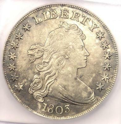 1803 Draped Bust Silver Dollar $1 - Certified ICG XF45 (EF45) - $4,800+ Value!