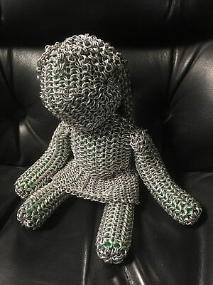 Chainmail Doll - Aluminum Rings - Handcrafted