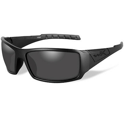 ae1680a815f Wiley X Twisted Black Ops Sunglasses - Smoke Grey Lens - Matte Black Frame