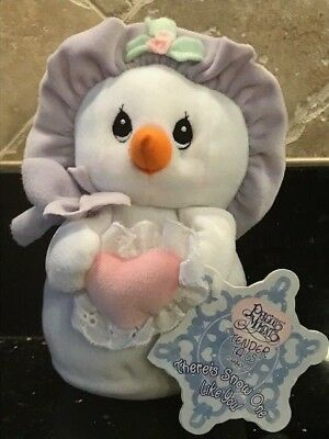 2000 Precious Moments Tender Tails Plush Purple Snowlady 7 In - Nwt