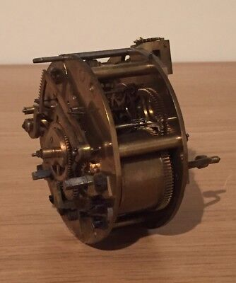 Antique French Clock Movement, Working Spares, Two Train Striking