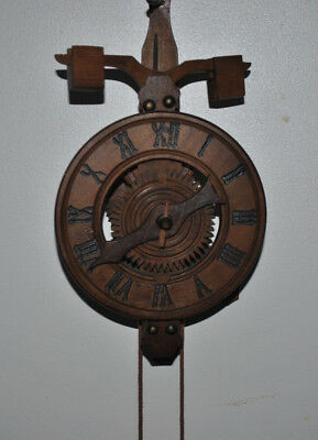 Wooden All Wood Skeleton Clock Bucco Anno style Pulley Spares and Repairs