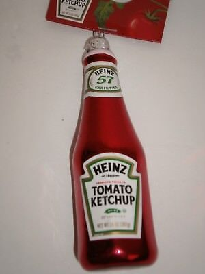New Heinz Tomato Ketchup Bottle Glass Ornament Free Ship