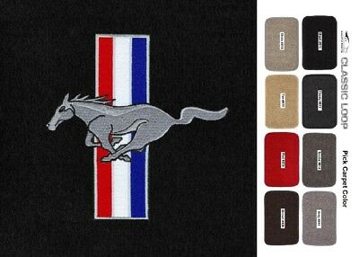 Lloyd Mats Classic Loop Mustang Pony & Bars Tri-Color Logo Trunk Mat (1964-1973)