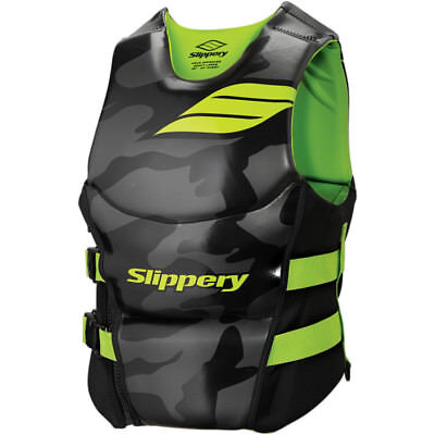 Slippery Array Side Entry Neo Vest Black/Lime