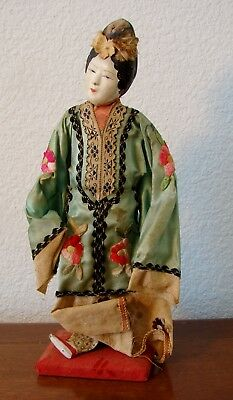 Vintage or older Asian, Chinese composition doll probably from the Qing dynasty