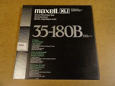"10 1/2"" (26,50 Cm) Metal Reel Tape Maxell Xli Sound Recording Tape 35-180B"