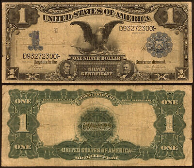 Black Eagle $1 One Dollar Silver Certificate Series of 1899