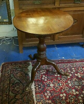 Antique Period federal Round Tilt Top Table 18th century 1750s-1790 Shop closing