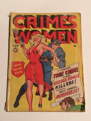 Crimes by Women #2 Fox Comics 1948 Pre-code GD+ SCARCE pics in descrp
