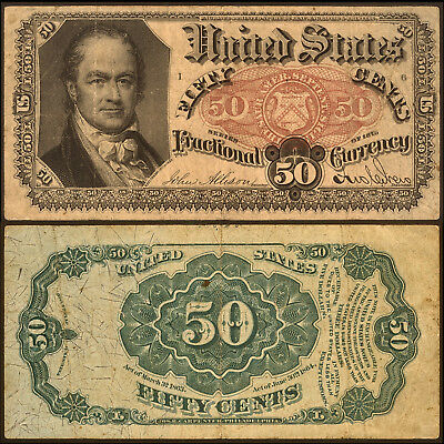 Fifty Cents Fractional Currancy Note, Series of 1875